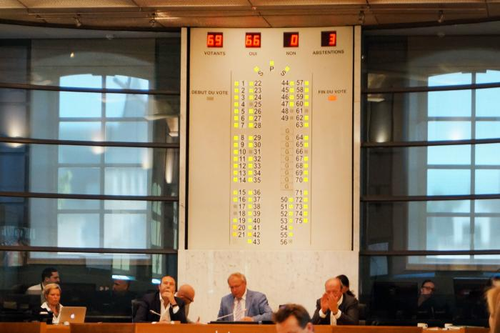 """Historische"" stemming in Waals Parlement"