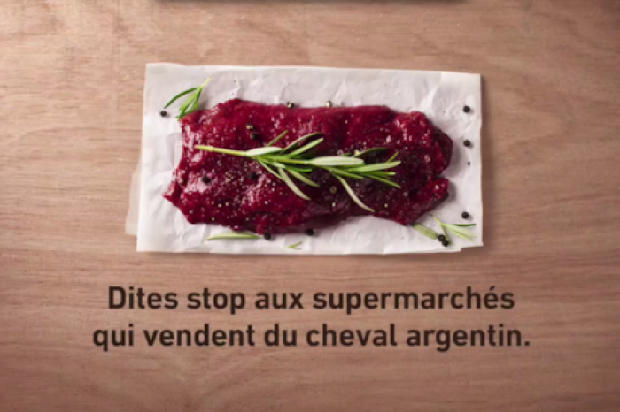 GAIA launches TV advert against horsemeat from Argentina